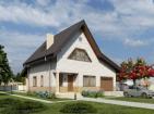 Проект одноэтажного жилого дома с мансардой, подвалом, гаражом и террасой